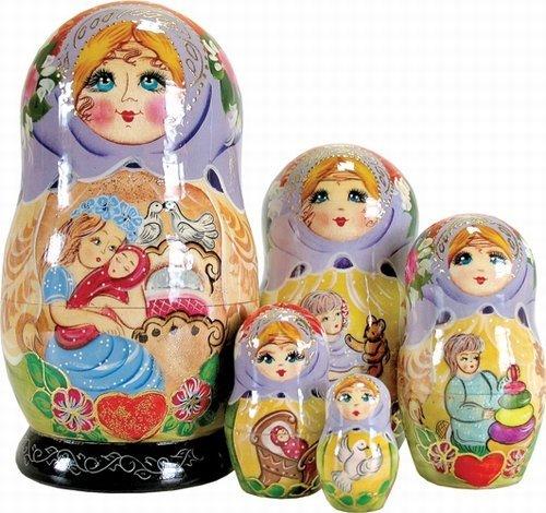 Nesting Ornament Doll (G. DeBrekht Mutter Love verschachtelt Puppe, 15,2cm)