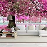 YWYWYWYW Benutzerdefinierte Foto Tapeten 3D Romantische Kirschbaum Tv Hintergrund Home Wallpaper Decor Wohnzimmer Sofa Wandbild Tapete Murales,220Cm(H)×310Cm(W)