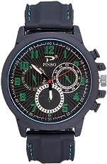 Souarts Herren Armbanduhr Einfach Stil Sport Analoge Quarz Uhr