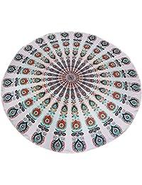 Écharpe de Bain Maillot de Bain Bikini Tapisserie Ronde en Coton Hippy Serviette de Plage Couvre-lit Décor
