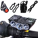 Nestling® 6600Lm 3x Cree XML U2 LED Bike Bicycle Cycling Light Headlamp Headlight