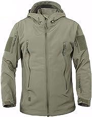 HAINE Military Wasserdicht Herren Softshell Jacke Fleece Futter Camouflage Outdoor Coat Multi Größen