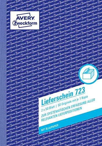 Avery Zweckform 723 Lieferschein, DIN A5, vorgelocht, 2 x 50 Blatt, weiß
