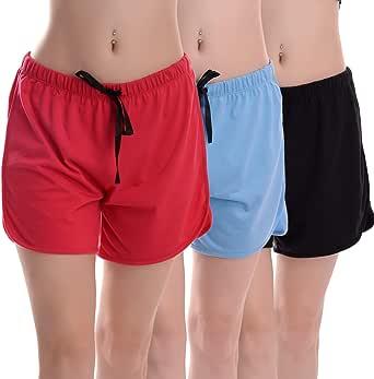 Moyzikh Women's Cotton Shorts Pack of 3