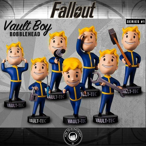 "Fallout 4 5"" Vault Boy Bobblehead Figure Complete Series 1 7-Pack Set by Gaming Heads"