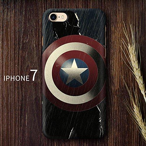 iPhone cases Disney personnage de dessin animé SUPER HERO souple en TPU Coque de protection pour Apple iPhone 7, JOKER CAPTAIN AMERICA