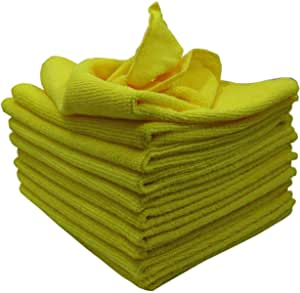 Kleenme Mikrofaser Reinigungstücher 10 Stück Fusselfrei Maschinenwaschbar Gelb