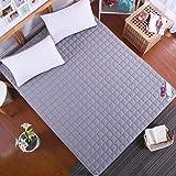 SKKGN Ultra-dünnen Sommer Cool matratze, Double Anti-Skid Klimaanlage Nackten matratze Maschine Waschbar Weich Topper-Grau 180x200cm(71x79inch)