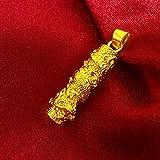 Aoligei 24K Gold Platte lange Zhu Anhänger vergoldet Pullover Kette Goldkette reinem Messing lange Dicke Gold plating verblassen nicht