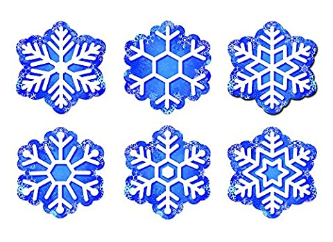 Snowflakes 6In Designer Cut Outs