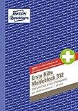 AVERY Zweckform 312 erste Hilfe Meldeblock (A5, 50 Originale) 50 Blatt, weiß