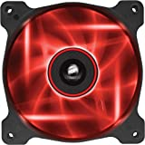 Corsair CO-9050019-WW Air Series SP120 LED 120mm  Low Noise High Pressure LED Fan Single Pack, Red
