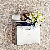 JIUCHANPIN Wc-papierhalter,Toilette Edelstahlblech Tissue Box Vollständig Eingeschlossen,Wasserdichte Toilettenpapier Kasten