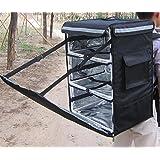 "pk-86a: 16""x 13"" x 24""Mochila bolsa de entrega de comida con separadores, W/3particiones para caliente/frío"