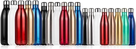 Botella de Agua de acero inoxidable sin BPA-500/750/1000 ml Botella Termica aisladas al vacío Botella de doble pared...