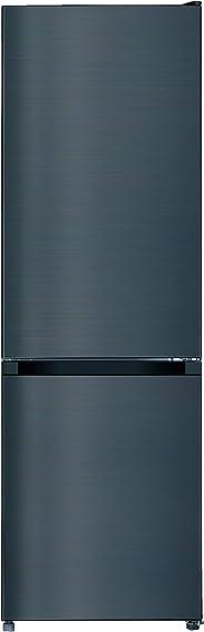 CHIQ BM205L4 combiné réfrigérateur congélateur bas, 205L (153+52), Froid statique, Low Frost, Acier inoxydable, Noir