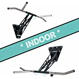 PULLUP & DIP Indoor & Outdoor Pull Up Dip Bar, Portable Pull-Up and Dip bar, Wall Mounted and Outdoor for Tree/Post…