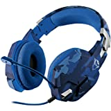 Trust Gaming GXT 322B Carus Cuffie per Playstation 4 & 5, PS4, PS5, con Microfono Flessibile, 3.5 mm Jack, Filo, Over Ear, Co