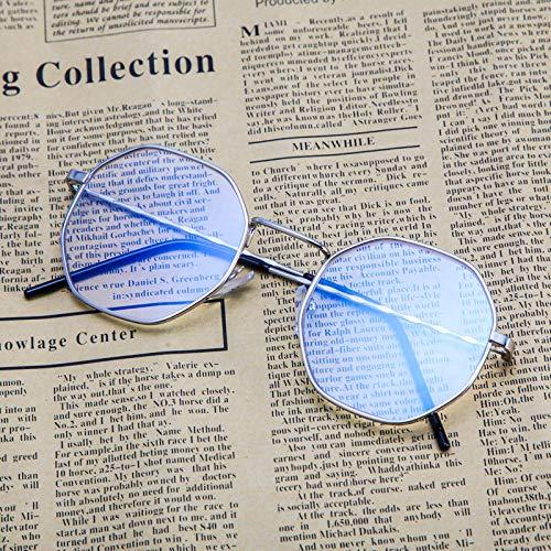 Sonnenbrillen Blu-ray-sperrbrillen, Blendmüdigkeit, Die Kopfschmerzen Beim Augenschutz Blockiert, Computer/mobile Sicherheitsbrillen, Transparente Linsen Silberner Rahmen (Beuteltuch)