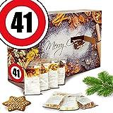 Geschenk zum 41. | Adventskalender | Advent Kalender für Männer Advent Kalender Frauen Advent Kalender Frau Advent Kalender Knabbereien Advent Kalender Knabbereien