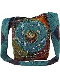batik Sadhu Bag hippie funda, Goa hombro bolsa–Azul/sadhubag, Hippie Bolsa