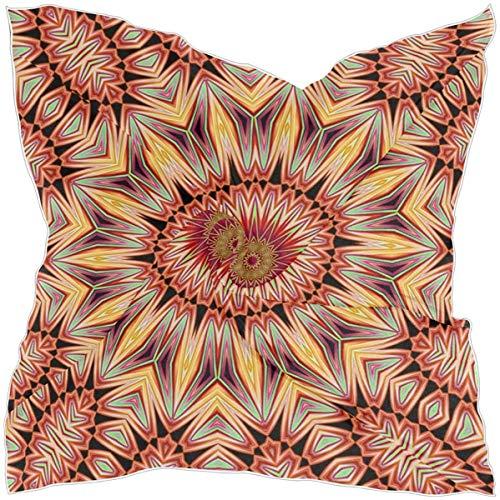 AIZENN Bufandas cuadradas rectangulares de satén para mujer con forma de mandala de 99 x 99 cm
