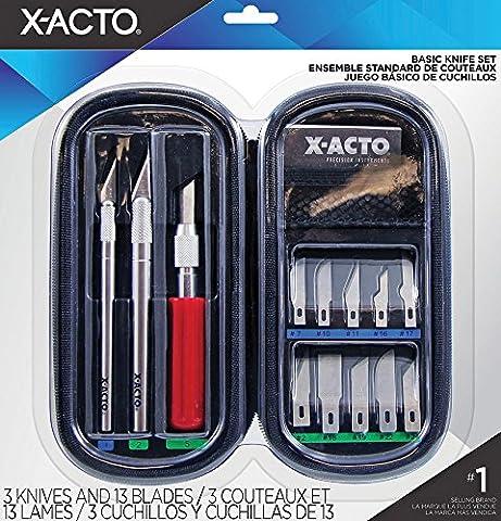 X-Acto Set découverte de 3 couteaux + 13 lames Acier