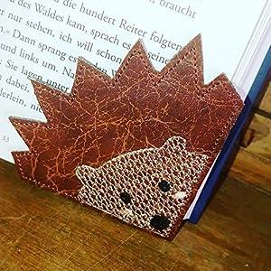 """Leseecke Lesezeichen""""igel""""""""hedgehog"""" personalisierbar Lesen Buch Leseratte Hobby Lesehilfe Buchecke Fox"""