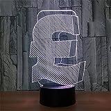 Britisches Pfund Führte Lampe USB-Farbkreatives Nachtlicht-Notenfernbedienung 3D