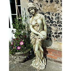 61MddNV 9rL. SS300  - Large Garden Sculptures - Woman with Jug Resin Figurine Statue