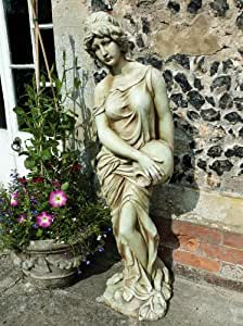 Large Garden Sculptures - Woman with Jug Resin Figurine Statue