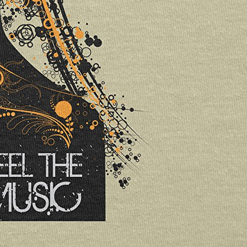 Texlab – Feel the music – sacchetto di stoffa Naturale