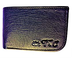 Ayush Pure Luxuries Genuine 8 Card Mens Leather Wallet (Black Curve)