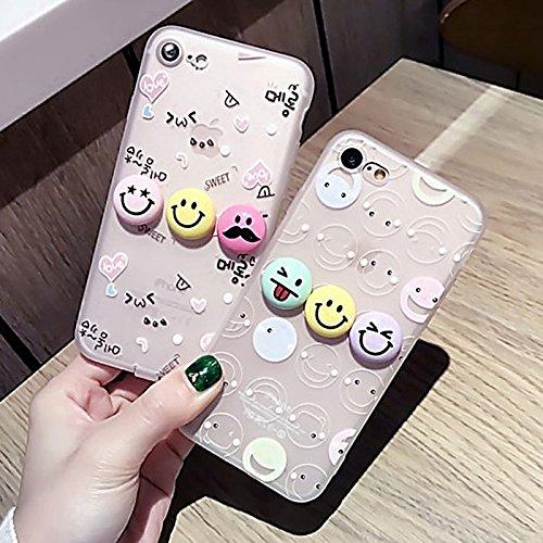 MXNET Fall für iPhone 6 u. 6s, 3D lächelndes Gesichts-Ausdruck-Liebes-Muster-Silikon-schützender Abdeckungs-Fall mit staubdichtem Stecker ,Iphone 6/6s Case ( SKU : Ip6g0273a ) Ip6g0273b