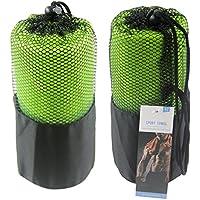Toalla de microfibra para deporte, ultra absorbente, ligera, secado rápido y diseño compacto, verde, 160*80cm
