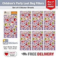 Fun Stickers Everyday C ** 15 Designs to Choose From ** Each Pack Contains 6 Sheets - Flamingo CDU C 18-48