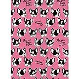 Hund–Französische Bulldogge Pink–Baumwolle