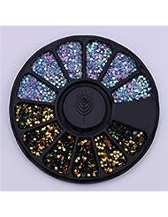 Boîte Born Pretty avec couleur mixtes 3D pour décorer les ongles, plaquette ronde pour manucure à faire soi-même, art sur les ongles, accessoires