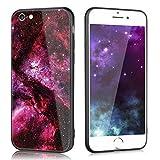 Slynmax Coque Apple iPhone 6s Verre Trempé,iPhone 6 Coque Slim, Étoiles colorées...