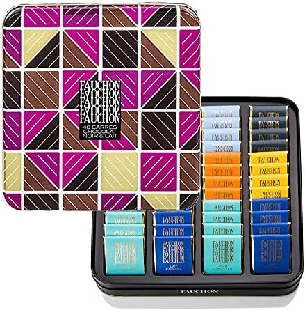 Fauchon - 48 carrés de chocolat noir et lait