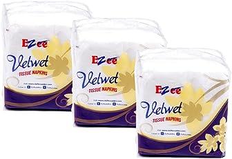 Ezee Tissue Paper Napkins - 100 Pieces (Pack of 3)