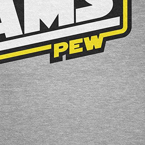 TEXLAB - Pew Pew Laser Beams - Herren Langarm T-Shirt Grau Meliert