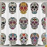 Suminla-Home Sugar Skulls Dead Tag Dia de Los Muertos geruchlos Wasserdicht Dusche Vorhänge für Badezimmer Premium 100% Polyester Stoff Deko Wanne Vorhang Designs 152,4x 182,9cm