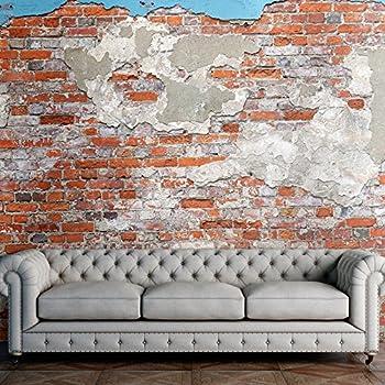 murando fototapete ziegel 500x280 cm gr e format 5m vlies tapete moderne wanddeko. Black Bedroom Furniture Sets. Home Design Ideas