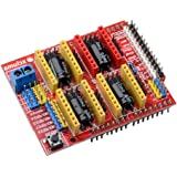 Robocraze CNC Shield v3 A4988 DRV8825 Driver | Expansion Board compatible with Arduino (Pack of 1)