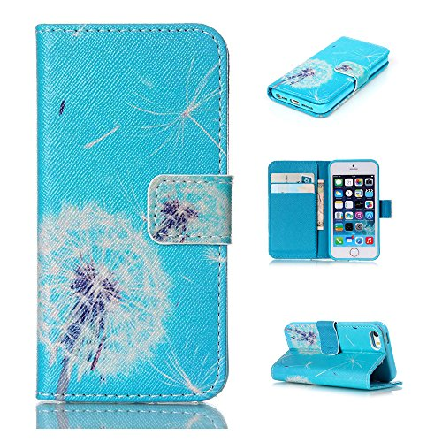 Nutbro 4S Case, iPhone 4 Case, iPhone 4S Case Leather, [Stand Feature] with Built-in Credit Card Slots Wallet Case For iPhone 4 4S 76