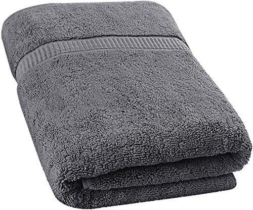 Serviette de Bain Extra-Large en Coton Doux Lavable à la Machine (89 x 178 cm) par Utopia Towels (Gris)