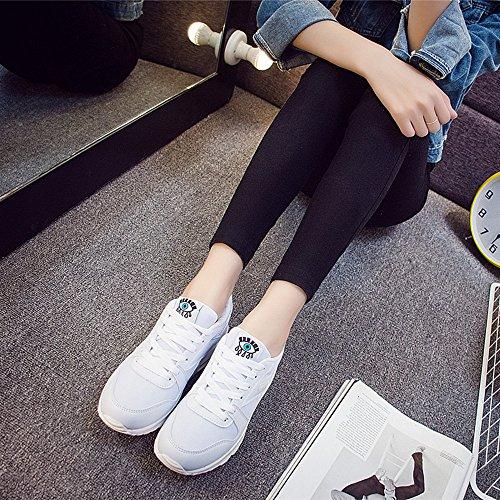 Peggie House Scarpe da corsa da donna, con anti-Shock per scarpe da Fitness, palestra, sport Bianco
