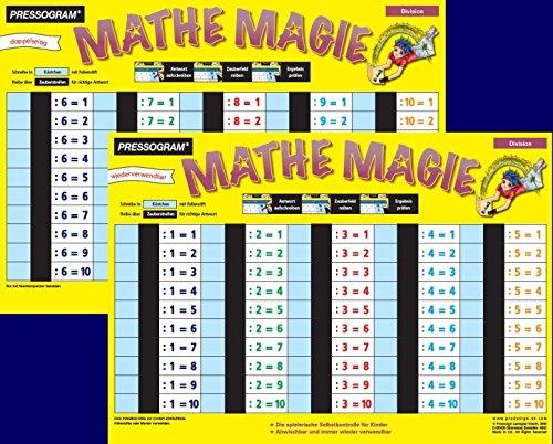 Preisvergleich Produktbild Pressogram Zaubertafel Mathe Magie Division