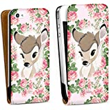 Apple iPhone 4 Tasche Hülle Flip Case Disney Bambi Fan Article Merchandise